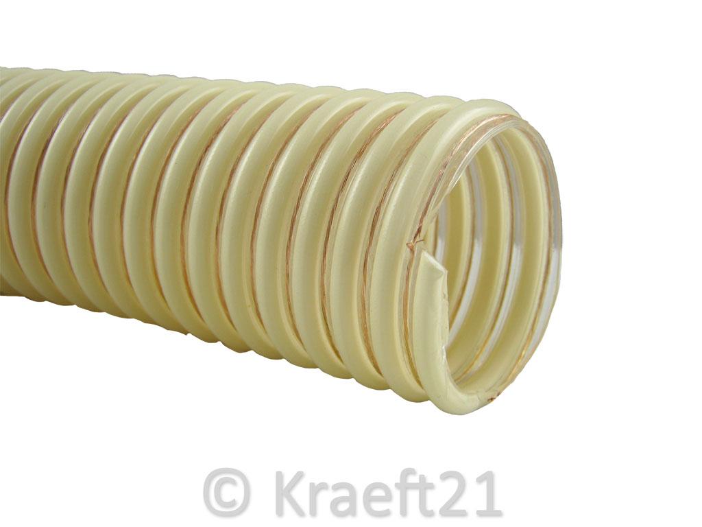 pu pelletschlauch zeus antistatisch spirale nw60 f rderschlauch pellets ebay. Black Bedroom Furniture Sets. Home Design Ideas