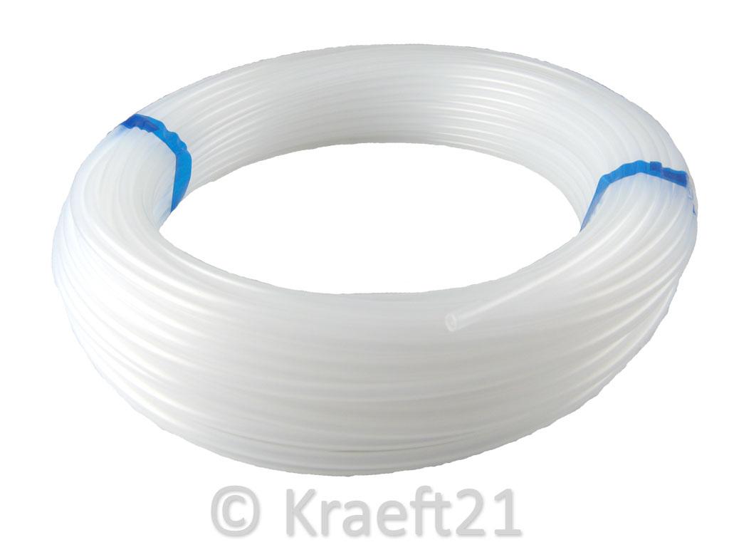 PTFE-Schlauch-Teflonschlauch-Teflon-Tube-Natur-bis-260-C-Pneumatik-Meterware