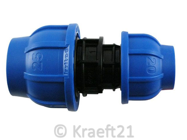 PE Rohr Kunststoff PP Klemmverbinder Klemmfitting Verschraubung Trinkwasser DVGW